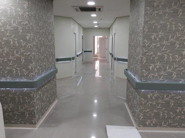 Corrimão para hospital