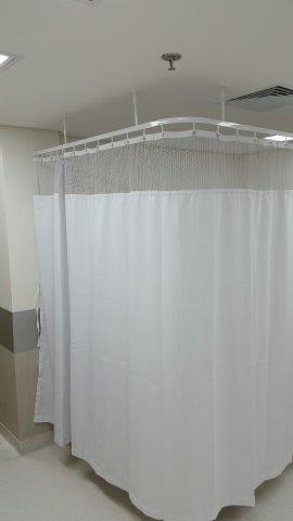 Cortinas divisórias de leito hospitalar