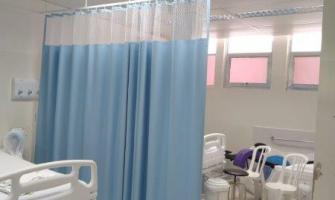 Cortina descartável para leito hospitalar